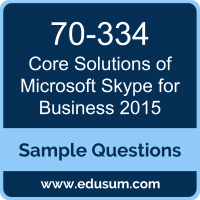 Core Solutions of Microsoft Skype for Business 2015 Dumps, 70-334 Dumps, 70-334 PDF, Core Solutions of Microsoft Skype for Business 2015 VCE, Microsoft 70-334 VCE, MCSE Productivity Solutions Expert PDF