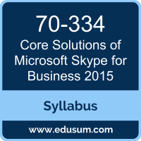 Core Solutions of Microsoft Skype for Business 2015 PDF, 70-334 Dumps, 70-334 PDF, Core Solutions of Microsoft Skype for Business 2015 VCE, 70-334 Questions PDF, Microsoft 70-334 VCE, MCSE Productivity Solutions Expert Dumps, MCSE Productivity Solutions Expert PDF