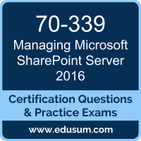 Managing Microsoft SharePoint Server 2016 Dumps, Managing Microsoft SharePoint Server 2016 PDF, 70-339 PDF, Managing Microsoft SharePoint Server 2016 Braindumps, 70-339 Questions PDF, Microsoft 70-339 VCE, MCSE Productivity Solutions Expert Dumps