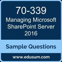 Managing Microsoft SharePoint Server 2016 Dumps, 70-339 Dumps, 70-339 PDF, Managing Microsoft SharePoint Server 2016 VCE, Microsoft 70-339 VCE, MCSE Productivity Solutions Expert PDF