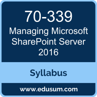 Managing Microsoft SharePoint Server 2016 PDF, 70-339 Dumps, 70-339 PDF, Managing Microsoft SharePoint Server 2016 VCE, 70-339 Questions PDF, Microsoft 70-339 VCE, MCSE Productivity Solutions Expert Dumps, MCSE Productivity Solutions Expert PDF