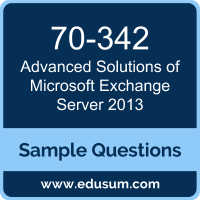 Advanced Solutions of Microsoft Exchange Server 2013 Dumps, 70-342 Dumps, 70-342 PDF, Advanced Solutions of Microsoft Exchange Server 2013 VCE, Microsoft 70-342 VCE, Microsoft MCSE Productivity PDF