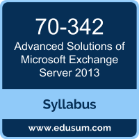 Advanced Solutions of Microsoft Exchange Server 2013 PDF, 70-342 Dumps, 70-342 PDF, Advanced Solutions of Microsoft Exchange Server 2013 VCE, 70-342 Questions PDF, Microsoft 70-342 VCE, Microsoft MCSE Productivity Dumps, Microsoft MCSE Productivity PDF