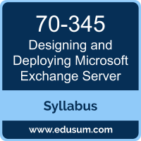 Designing and Deploying Microsoft Exchange Server PDF, 70-345 Dumps, 70-345 PDF, Designing and Deploying Microsoft Exchange Server VCE, 70-345 Questions PDF, Microsoft 70-345 VCE, Microsoft MCSE Productivity Solutions Expert Dumps, Microsoft MCSE Productivity Solutions Expert PDF