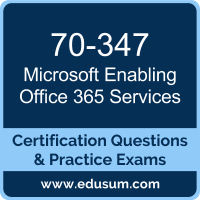 Enabling Office 365 Services Dumps, Enabling Office 365 Services PDF, 70-347 PDF, Enabling Office 365 Services Braindumps, 70-347 Questions PDF, Microsoft 70-347 VCE, Microsoft MCSA Office 365 Dumps