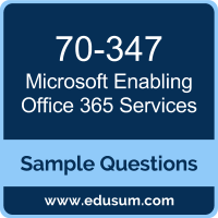 Enabling Office 365 Services Dumps, 70-347 Dumps, 70-347 PDF, Enabling Office 365 Services VCE, Microsoft 70-347 VCE, Microsoft MCSA Office 365 PDF
