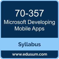 Developing Mobile Apps PDF, 70-357 Dumps, 70-357 PDF, Developing Mobile Apps VCE, 70-357 Questions PDF, Microsoft 70-357 VCE, Microsoft MCSD App Builder Dumps, Microsoft MCSD App Builder PDF