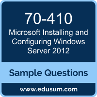 Installing and Configuring Windows Server 2012 Dumps, 70-410 Dumps, 70-410 PDF, Installing and Configuring Windows Server 2012 VCE, Microsoft 70-410 VCE, Microsoft MCSA Windows Server 2012 PDF