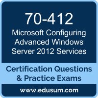 Configuring Advanced Windows Server 2012 Services Dumps, Configuring Advanced Windows Server 2012 Services PDF, 70-412 PDF, Configuring Advanced Windows Server 2012 Services Braindumps, 70-412 Questions PDF, Microsoft 70-412 VCE, Microsoft MCSA Windows Server 2012 Dumps