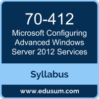 Configuring Advanced Windows Server 2012 Services PDF, 70-412 Dumps, 70-412 PDF, Configuring Advanced Windows Server 2012 Services VCE, 70-412 Questions PDF, Microsoft 70-412 VCE, Microsoft MCSA Windows Server 2012 Dumps, Microsoft MCSA Windows Server 2012 PDF