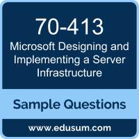 Designing and Implementing a Server Infrastructure Dumps, 70-413 Dumps, 70-413 PDF, Designing and Implementing a Server Infrastructure VCE, Microsoft 70-413 VCE, Microsoft MCSE Core Infrastructure PDF