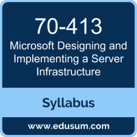 Designing and Implementing a Server Infrastructure PDF, 70-413 Dumps, 70-413 PDF, Designing and Implementing a Server Infrastructure VCE, 70-413 Questions PDF, Microsoft 70-413 VCE, Microsoft MCSE Core Infrastructure Dumps, Microsoft MCSE Core Infrastructure PDF