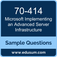 Implementing an Advanced Server Infrastructure Dumps, 70-414 Dumps, 70-414 PDF, Implementing an Advanced Server Infrastructure VCE, Microsoft 70-414 VCE, Microsoft MCSE Server Infrastructure PDF