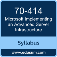 Implementing an Advanced Server Infrastructure PDF, 70-414 Dumps, 70-414 PDF, Implementing an Advanced Server Infrastructure VCE, 70-414 Questions PDF, Microsoft 70-414 VCE, MCSE Core Infrastructure Dumps, MCSE Core Infrastructure PDF