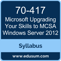Upgrading Your Skills to MCSA Windows Server 2012 PDF, 70-417 Dumps, 70-417 PDF, Upgrading Your Skills to MCSA Windows Server 2012 VCE, 70-417 Questions PDF, Microsoft 70-417 VCE, Microsoft MCSA Windows Server 2012 Dumps, Microsoft MCSA Windows Server 2012 PDF