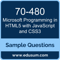 Programming in HTML5 with JavaScript and CSS3 Dumps, 70-480 Dumps, 70-480 PDF, Programming in HTML5 with JavaScript and CSS3 VCE, Microsoft 70-480 VCE, Microsoft MCSA Web Applications PDF