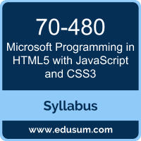 Programming in HTML5 with JavaScript and CSS3 PDF, 70-480 Dumps, 70-480 PDF, Programming in HTML5 with JavaScript and CSS3 VCE, 70-480 Questions PDF, Microsoft 70-480 VCE, Microsoft MCSA Web Applications Dumps, Microsoft MCSA Web Applications PDF