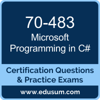 Programming in C# Dumps, Programming in C# PDF, 70-483 PDF, Programming in C# Braindumps, 70-483 Questions PDF, Microsoft 70-483 VCE, Microsoft MCSA Universal Windows Platform Dumps