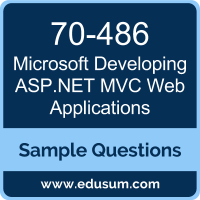 Free Microsoft Developing Asp Net Mvc Web Applications Mcsa Web Applications Sample Questions And Study Guide Edusum Edusum