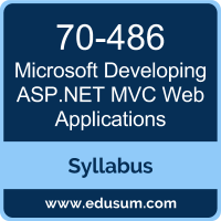 Developing ASP.NET MVC Web Applications PDF, 70-486 Dumps, 70-486 PDF, Developing ASP.NET MVC Web Applications VCE, 70-486 Questions PDF, Microsoft 70-486 VCE, Microsoft MCSA Web Applications Dumps, Microsoft MCSA Web Applications PDF