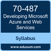 Developing Microsoft Azure and Web Services PDF, 70-487 Dumps, 70-487 PDF, Developing Microsoft Azure and Web Services VCE, 70-487 Questions PDF, Microsoft 70-487 VCE, Microsoft MCSD App Builder Dumps, Microsoft MCSD App Builder PDF