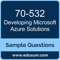 Developing Microsoft Azure Solutions Dumps, 70-532 Dumps, 70-532 PDF, Developing Microsoft Azure Solutions VCE, Microsoft 70-532 VCE, Microsoft MCSA Cloud Platform PDF