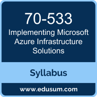 Implementing Microsoft Azure Infrastructure Solutions PDF, 70-533 Dumps, 70-533 PDF, Implementing Microsoft Azure Infrastructure Solutions VCE, 70-533 Questions PDF, Microsoft 70-533 VCE, Microsoft MCSA Cloud Platform Dumps, Microsoft MCSA Cloud Platform PDF