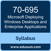 Deploying Windows Desktops and Enterprise Applications PDF, 70-695 Dumps, 70-695 PDF, Deploying Windows Desktops and Enterprise Applications VCE, 70-695 Questions PDF, Microsoft 70-695 VCE, Microsoft MCSE Mobility Dumps, Microsoft MCSE Mobility PDF