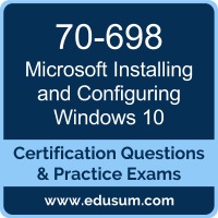 Installing and Configuring Windows 10 Dumps, Installing and Configuring Windows 10 PDF, 70-698 PDF, Installing and Configuring Windows 10 Braindumps, 70-698 Questions PDF, Microsoft 70-698 VCE, Microsoft MCSA Windows 10 Dumps