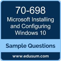 Installing and Configuring Windows 10 Dumps, 70-698 Dumps, 70-698 PDF, Installing and Configuring Windows 10 VCE, Microsoft 70-698 VCE, Microsoft MCSA Windows 10 PDF