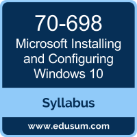 Installing and Configuring Windows 10 PDF, 70-698 Dumps, 70-698 PDF, Installing and Configuring Windows 10 VCE, 70-698 Questions PDF, Microsoft 70-698 VCE, Microsoft MCSA Windows 10 Dumps, Microsoft MCSA Windows 10 PDF