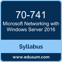 Networking with Windows Server 2016 PDF, 70-741 Dumps, 70-741 PDF, Networking with Windows Server 2016 VCE, 70-741 Questions PDF, Microsoft 70-741 VCE, Microsoft MCSA Windows Server 2016 Dumps, Microsoft MCSA Windows Server 2016 PDF