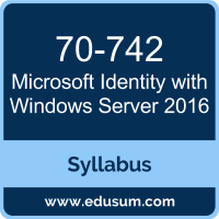 Identity with Windows Server 2016 PDF, 70-742 Dumps, 70-742 PDF, Identity with Windows Server 2016 VCE, 70-742 Questions PDF, Microsoft 70-742 VCE, Microsoft MCSA Windows Server 2016 Dumps, Microsoft MCSA Windows Server 2016 PDF