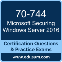 Securing Windows Server 2016 Dumps, Securing Windows Server 2016 PDF, 70-744 PDF, Securing Windows Server 2016 Braindumps, 70-744 Questions PDF, Microsoft 70-744 VCE, Microsoft MCSE Core Infrastructure Dumps