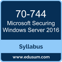 Securing Windows Server 2016 PDF, 70-744 Dumps, 70-744 PDF, Securing Windows Server 2016 VCE, 70-744 Questions PDF, Microsoft 70-744 VCE, Microsoft MCSE Core Infrastructure Dumps, Microsoft MCSE Core Infrastructure PDF