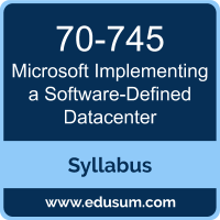 Implementing a Software-Defined Datacenter PDF, 70-745 Dumps, 70-745 PDF, Implementing a Software-Defined Datacenter VCE, 70-745 Questions PDF, Microsoft 70-745 VCE, Microsoft MCSE Core Infrastructure Dumps, Microsoft MCSE Core Infrastructure PDF
