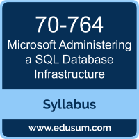 Administering a SQL Database Infrastructure PDF, 70-764 Dumps, 70-764 PDF, Administering a SQL Database Infrastructure VCE, 70-764 Questions PDF, Microsoft 70-764 VCE, Microsoft MCSA Dynamics 365 for Operations Dumps, Microsoft MCSA Dynamics 365 for Operations PDF