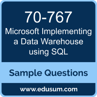 Implementing a Data Warehouse using SQL Dumps, 70-767 Dumps, 70-767 PDF, Implementing a Data Warehouse using SQL VCE, Microsoft 70-767 VCE, Microsoft MCSE Data Management and Analytics PDF