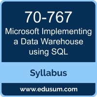 Implementing a Data Warehouse using SQL PDF, 70-767 Dumps, 70-767 PDF, Implementing a Data Warehouse using SQL VCE, 70-767 Questions PDF, Microsoft 70-767 VCE, Microsoft MCSE Data Management and Analytics Dumps, Microsoft MCSE Data Management and Analytics PDF