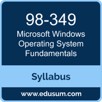 Windows Operating System Fundamentals PDF, 98-349 Dumps, 98-349 PDF, Windows Operating System Fundamentals VCE, 98-349 Questions PDF, Microsoft 98-349 VCE