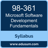 Software Development Fundamentals PDF, 98-361 Dumps, 98-361 PDF, Software Development Fundamentals VCE, 98-361 Questions PDF, Microsoft 98-361 VCE, Microsoft MTA Cloud Fundamentals Dumps, Microsoft MTA Cloud Fundamentals PDF