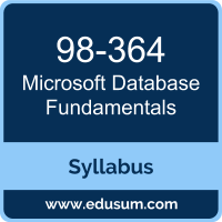 Database Fundamentals PDF, 98-364 Dumps, 98-364 PDF, Database Fundamentals VCE, 98-364 Questions PDF, Microsoft 98-364 VCE, Microsoft MTA Database Fundamentals Dumps, Microsoft MTA Database Fundamentals PDF