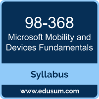 Mobility and Devices Fundamentals PDF, 98-368 Dumps, 98-368 PDF, Mobility and Devices Fundamentals VCE, 98-368 Questions PDF, Microsoft 98-368 VCE