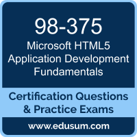 HTML5 Application Development Fundamentals Dumps, HTML5 Application Development Fundamentals PDF, 98-375 PDF, HTML5 Application Development Fundamentals Braindumps, 98-375 Questions PDF, Microsoft 98-375 VCE, Microsoft MTA HTML5 Application Development Fundamentals Dumps