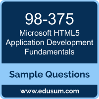 HTML5 Application Development Fundamentals Dumps, 98-375 Dumps, 98-375 PDF, HTML5 Application Development Fundamentals VCE, Microsoft 98-375 VCE, Microsoft MTA HTML5 Application Development Fundamentals PDF