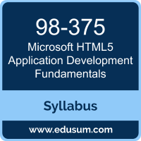 HTML5 Application Development Fundamentals PDF, 98-375 Dumps, 98-375 PDF, HTML5 Application Development Fundamentals VCE, 98-375 Questions PDF, Microsoft 98-375 VCE, Microsoft MTA HTML5 Application Development Fundamentals Dumps, Microsoft MTA HTML5 Application Development Fundamentals PDF