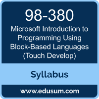 Introduction to Programming Using Block-Based Languages (Touch Develop) PDF, 98-380 Dumps, 98-380 PDF, Introduction to Programming Using Block-Based Languages (Touch Develop) VCE, 98-380 Questions PDF, Microsoft 98-380 VCE, Microsoft MTA Introduction to Programming Using Block-Based Languages Dumps, Microsoft MTA Introduction to Programming Using Block-Based Languages PDF
