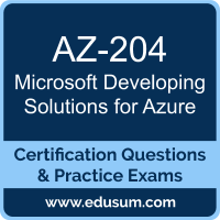 Developing Solutions for Azure Dumps, Developing Solutions for Azure PDF, AZ-204 PDF, Developing Solutions for Azure Braindumps, AZ-204 Questions PDF, Microsoft AZ-204 VCE, Microsoft MCA Azure Developer Dumps