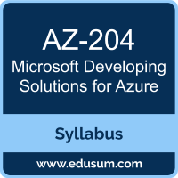 Developing Solutions for Azure PDF, AZ-204 Dumps, AZ-204 PDF, Developing Solutions for Azure VCE, AZ-204 Questions PDF, Microsoft AZ-204 VCE, Microsoft MCA Azure Developer Dumps, Microsoft MCA Azure Developer PDF