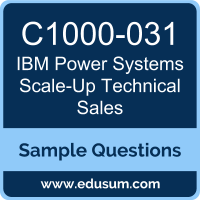 Power Systems Scale-Up Technical Sales Dumps, C1000-031 Dumps, C1000-031 PDF, Power Systems Scale-Up Technical Sales VCE, IBM C1000-031 VCE